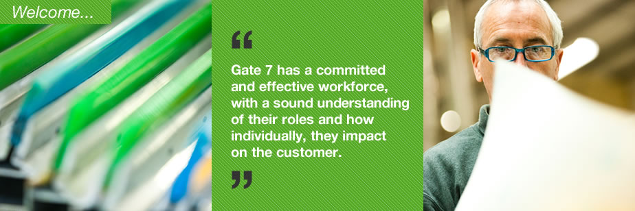 Gate 7 customers can expect high quality productsm competitively priced, delivered on time.